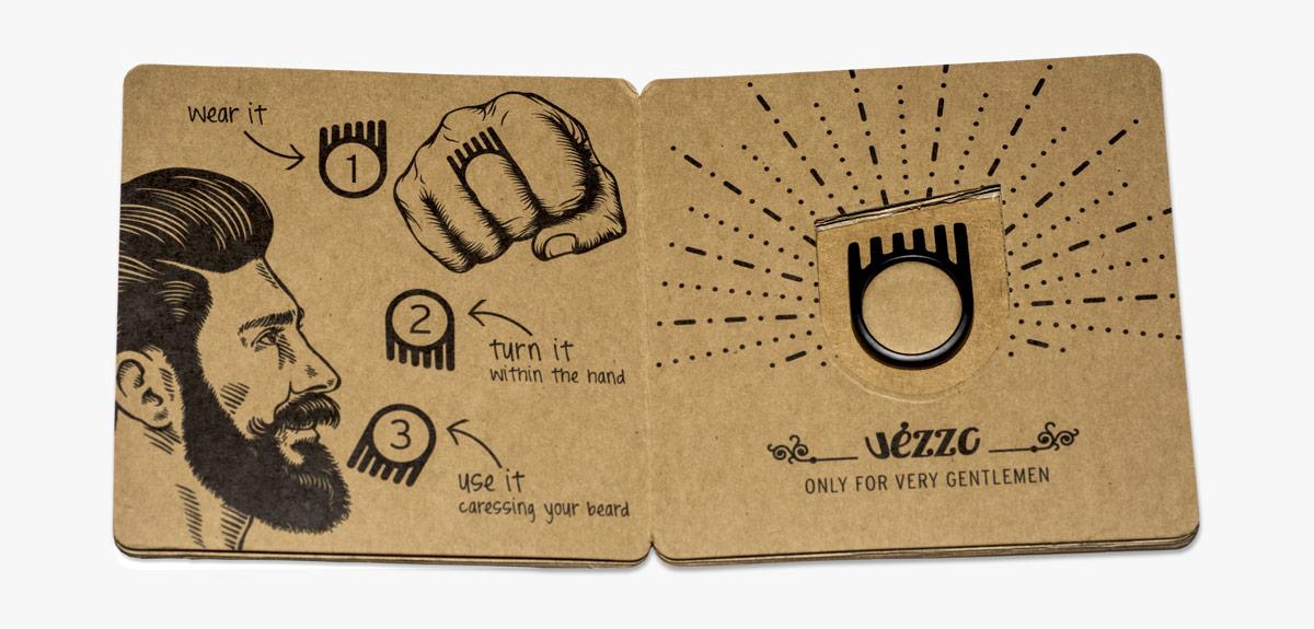 Vézzo Pack - anello da barba - anello pettina barba
